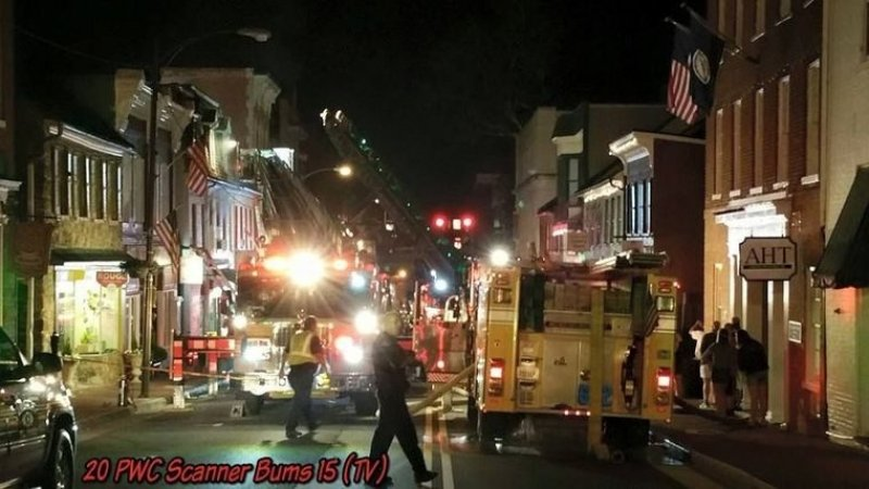 Downtown Leesburg Fire Brings 2nd Alarm