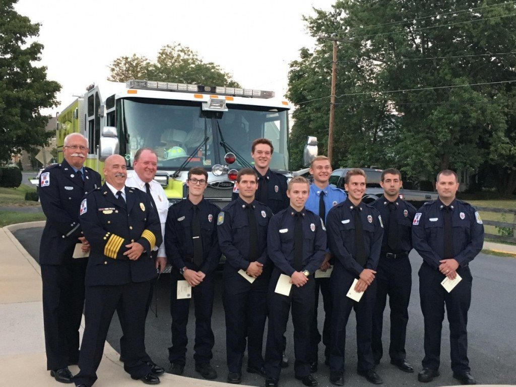 Town Recognition for New FF's and EMT's