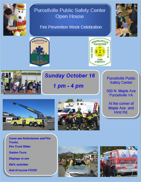 "Fire Prevention Week  ""OPEN HOUSE """